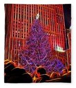 Rockefeller Center Christmas Tree Fleece Blanket