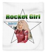 Rocket Girl Fleece Blanket