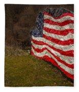 Rockin' The Flag Fleece Blanket