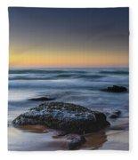 Rockin The Sunrise Seascape Fleece Blanket