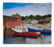 Rockport Harbor 2 Fleece Blanket