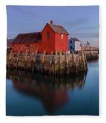 Rockport Ma Fishing Shack - #1 Fleece Blanket