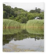 Rockport Reeds And Reflections Fleece Blanket