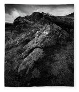 Rocks And Ben More Fleece Blanket