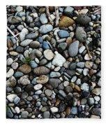 Rocks And Sticks On The Beach Fleece Blanket
