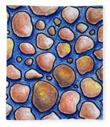 Rocks And Water Abstract Fleece Blanket