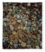 Rocks From Beaches Fleece Blanket