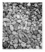 Rocks From Beaches In Black And White Fleece Blanket