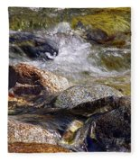 Rocks In A Stream 2a Fleece Blanket