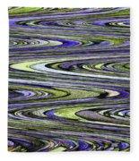 Rocks On Beach Abstract Fleece Blanket