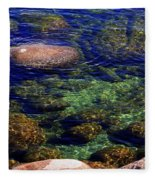 Rocks Ripples And Reflections Fleece Blanket