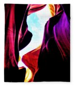 Rocks, Sunlight And Magical Colors Fleece Blanket