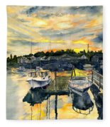 Rocktide Sunset Fleece Blanket