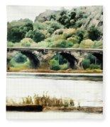 Rockville Bridge On The Susquehanna River Fleece Blanket