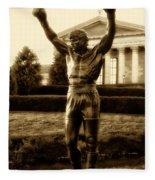 Rocky - Heart Of A Champion  Fleece Blanket