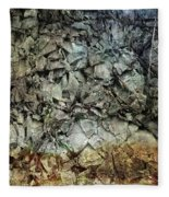 Rocky Abstraction Fleece Blanket