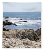 Rocky California Coastline Fleece Blanket