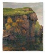 Rocky Cliffs Fleece Blanket