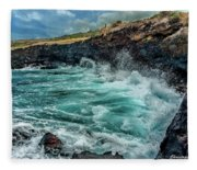 Rocky Coast Fleece Blanket