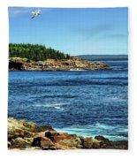 Rocky Coastline 3 Fleece Blanket