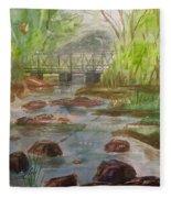 Rocky Creek In The Catskills  Fleece Blanket