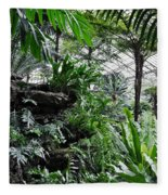 Rocky Fern Room Fleece Blanket
