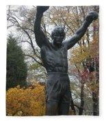 Rocky In The Fall Fleece Blanket