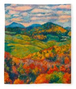 Rocky Knob In Fall Fleece Blanket