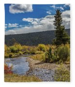 Rocky Mountain Afternoon Fleece Blanket