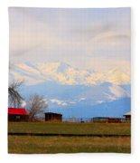 Rocky Mountain Boulder County View Fleece Blanket