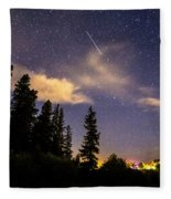 Rocky Mountain Falling Star Fleece Blanket