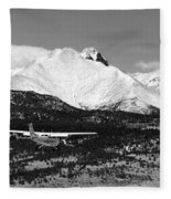Rocky Mountain Flying  Fleece Blanket
