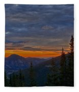 Rocky Mountain High Sunrise Fleece Blanket