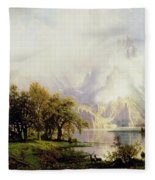 Rocky Mountain Landscape Fleece Blanket