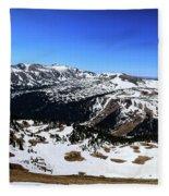 Rocky Mountain National Park Pano 2 Fleece Blanket