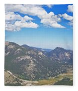 Rocky Mountain National Park Panoramic Fleece Blanket