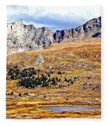 Rocky Mountain Tundra And Lake Fleece Blanket