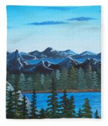 Rocky Mountain View Fleece Blanket