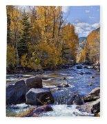 Rocky Mountain Water 8 X 10 Fleece Blanket
