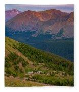 Rocky Mountain Wilderness Fleece Blanket