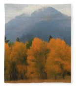 Rocky Mountains Colorado Autumn  Fleece Blanket