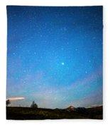 Rocky Mountains Starry Night Fleece Blanket
