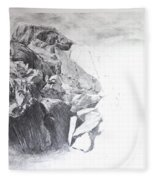 Rocky Outcrop In Snowdonia. Fleece Blanket