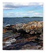 Rocky Point - Wreck Island Fleece Blanket