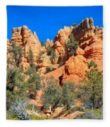 Rocky Range At Red Canyon Fleece Blanket