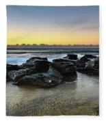 Rocky Seascape Fleece Blanket