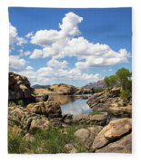Rocky Shore And Pristine Water Fleece Blanket