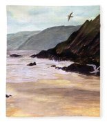 Rocky Shore Fleece Blanket