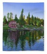 Rocky Shore Lodge Fleece Blanket