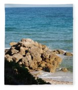 Rocky Shoreline Fleece Blanket